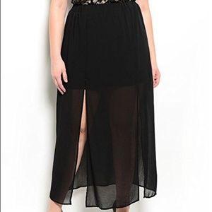 Semi Sheer Maxi Skirt